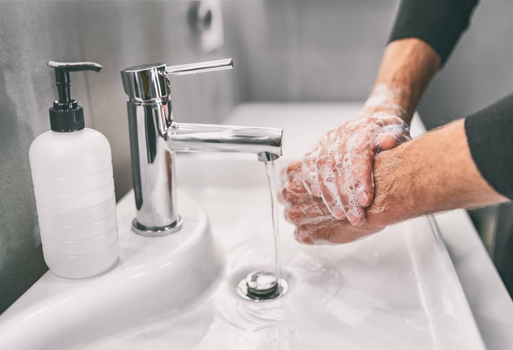 Rutland Health Network washing hands as part of Covid-19 recommendations